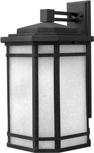 Hinkley Cherry Creek 1-Light LED Outdoor Wall Mount Vintage Black 1275VKLED
