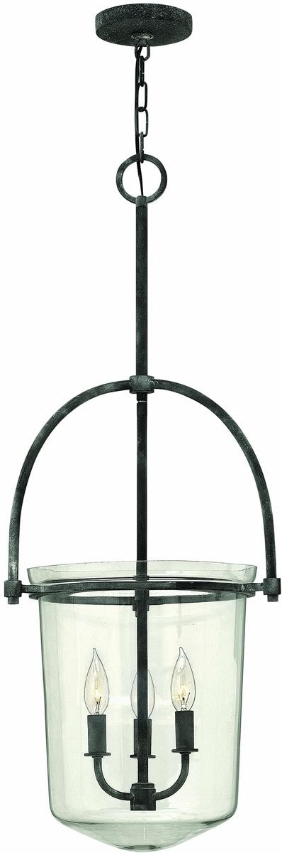 "16""W Clancy 3-Light Chandelier Aged Zinc"