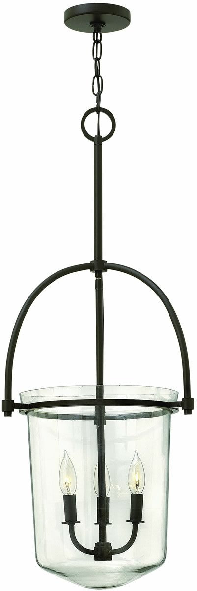 "16""W Clancy 3-Light Chandelier Buckeye Bronze"