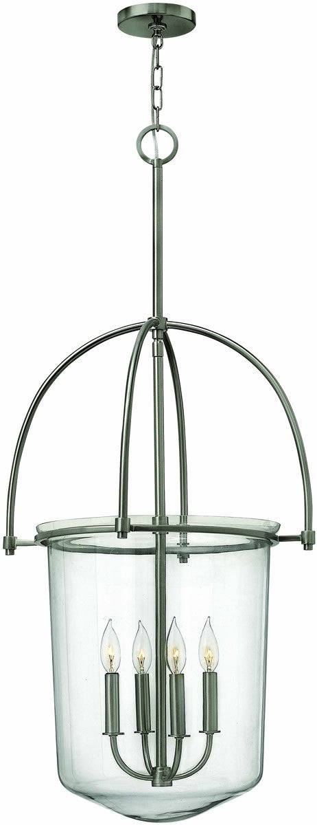"19""W Clancy 4-Light Chandelier Brushed Nickel"