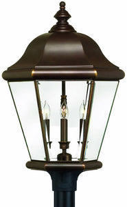 Hinkley Clifton Park 4-Light Extra-Large Outdoor Post Lantern Copper Bronze 2407CB