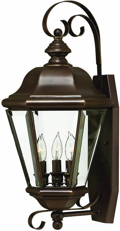 "22""h Clifton Park 3-Light Large Outdoor Wall Lantern Copper Bronze"