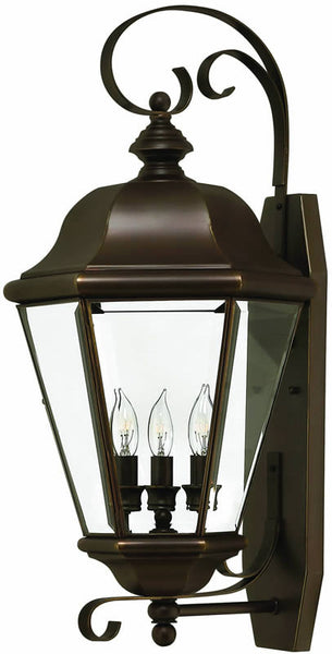"26""h Clifton Park 3-Light Large Outdoor Wall Lantern Copper Bronze"