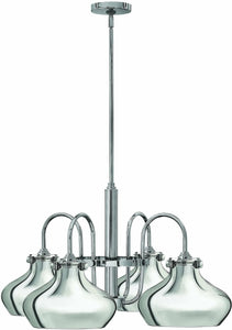 Congress 4-Light Chandelier Chrome
