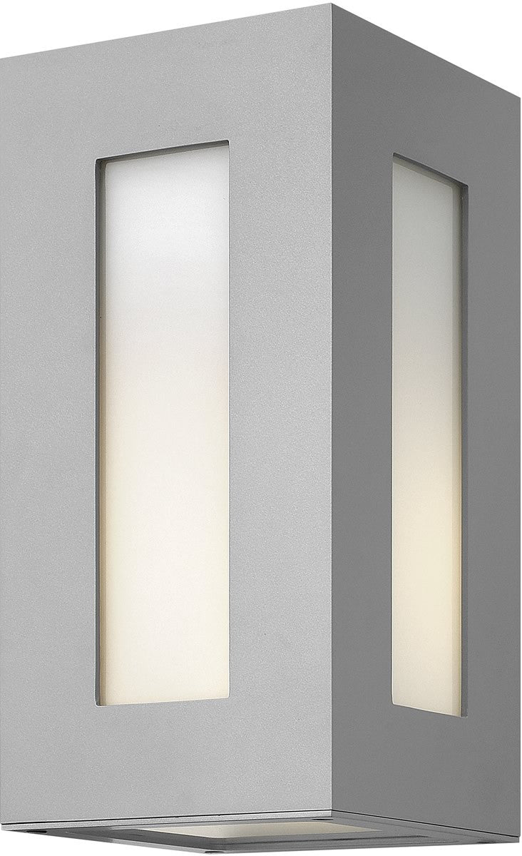 "12""h Dorian 1-Light Wall Outdoor Titanium"