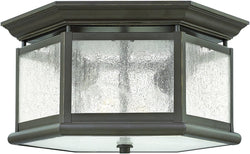 Hinkley Edgewater 2-Light Outdoor Ceiling Light Oil Rubbed Bronze 3225OB