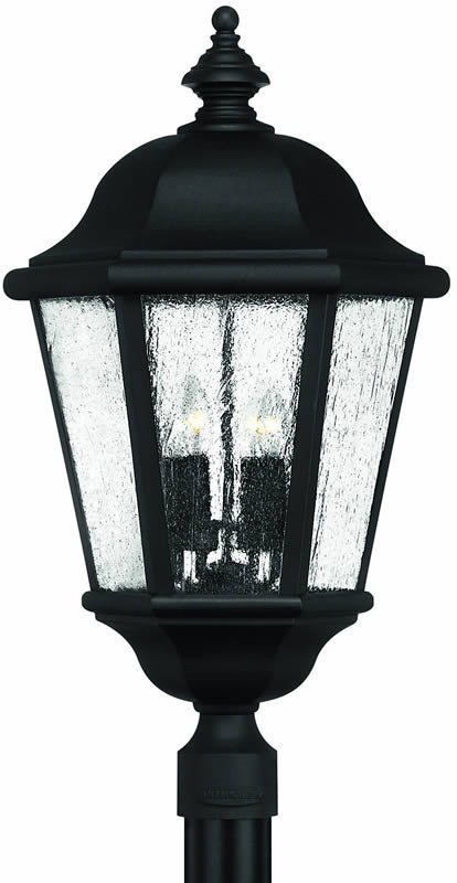 "27""h Edgewater 4-Light Extra-Large Outdoor Post Lantern Black"
