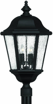 "28""H Edgewater 4-Light Extra-Large Outdoor Post Lantern Black"