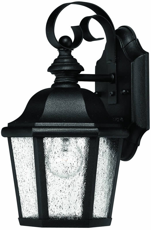 "11""h Edgewater 1-Light Outdoor Wall Lantern Black"