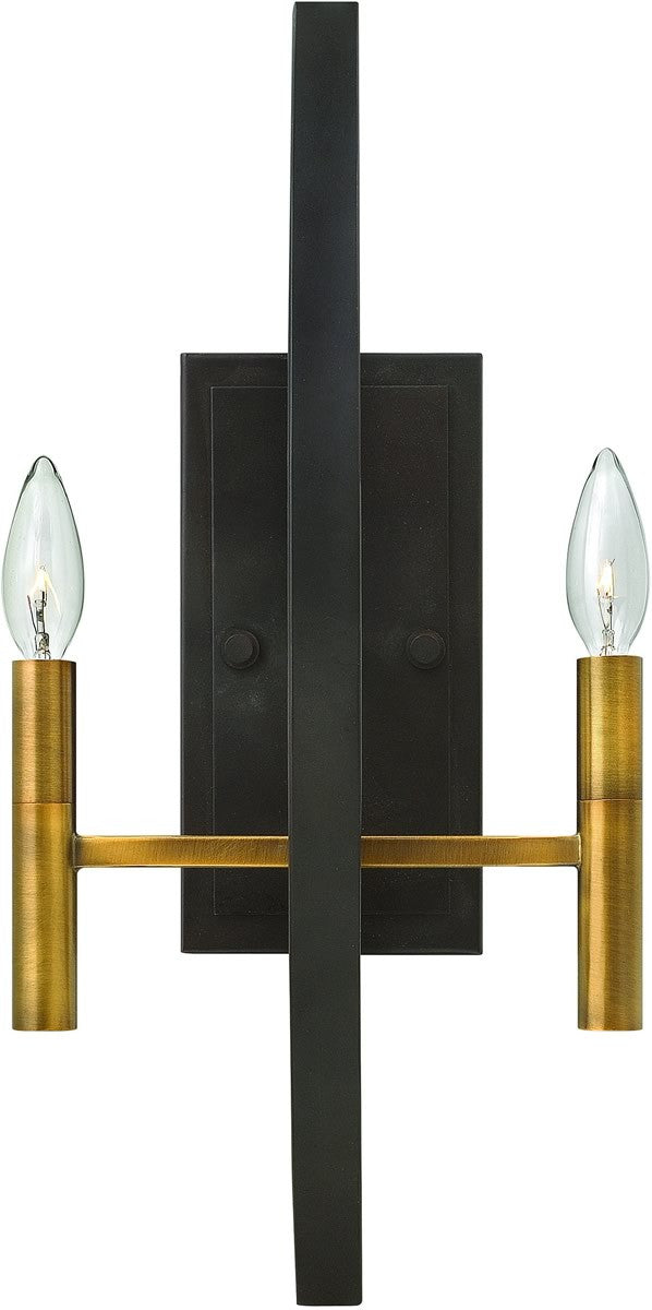 Euclid 2-Light Wall Sconce Spanish Bronze