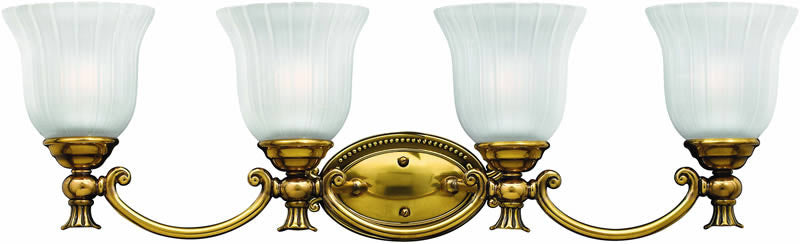 "31""w Francoise 4-Light Bath Vanity Burnished Brass"