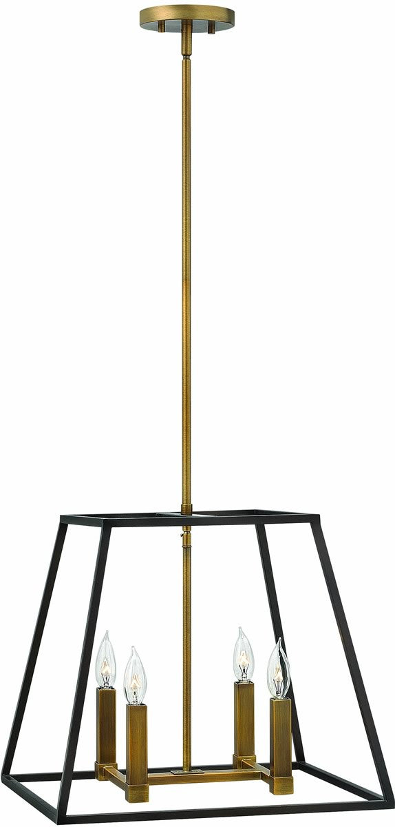 "18""W Fulton 4-Light Chandelier Bronze"