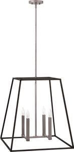 Hinkley Fulton 4-Light Foyer Chandelier Aged Zinc 3336DZ
