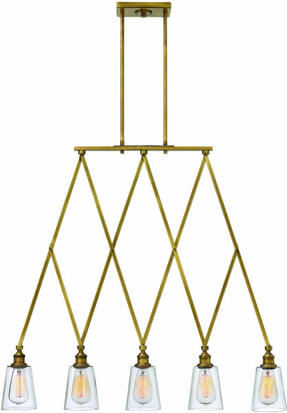 Gatsby 5-Light Chandelier Heritage Brass