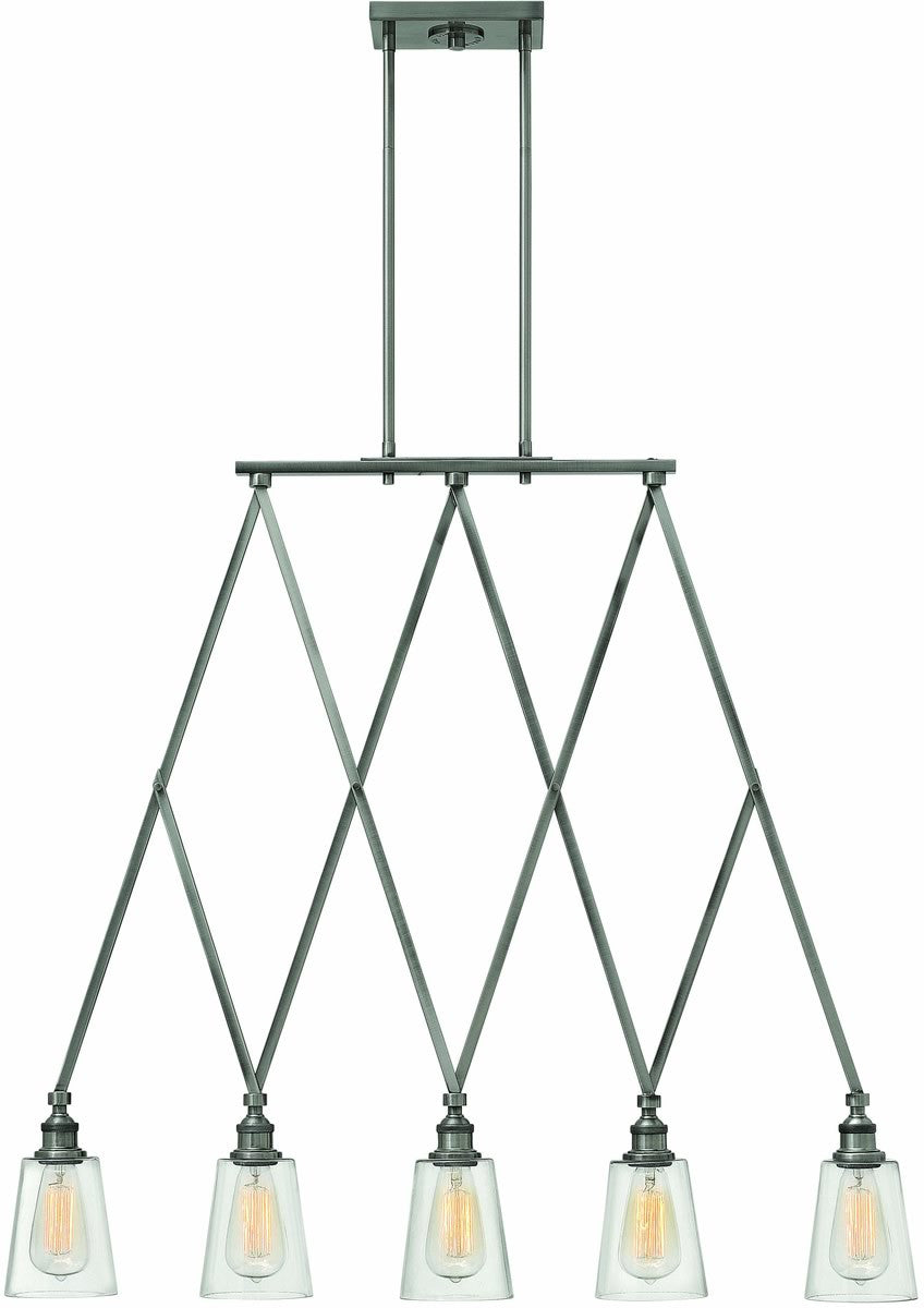 Gatsby 5-Light Chandelier Polished Antique Nickel