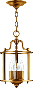 Hinkley Gentry 3-Light Chandelier Heirloom Brass 3470HR