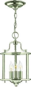 Hinkley Gentry 3-Light Chandelier Polished Nickel 3470PN