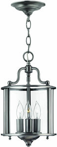 Hinkley Gentry 3-Light Foyer Chandelier Pewter 3470PW