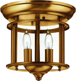 Hinkley Gentry 2-Light Chandelier Heirloom Brass 3384HB
