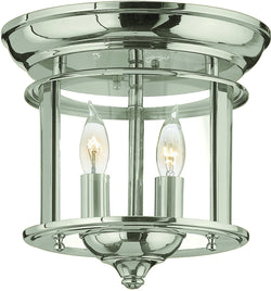 Hinkley Gentry 2-Light Chandelier Polished Nickel 3474HR