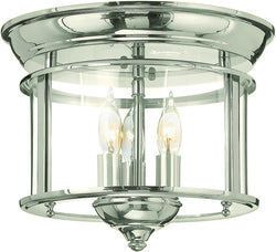 Hinkley Gentry 3-Light Chandelier Polished Nickel 3473PN