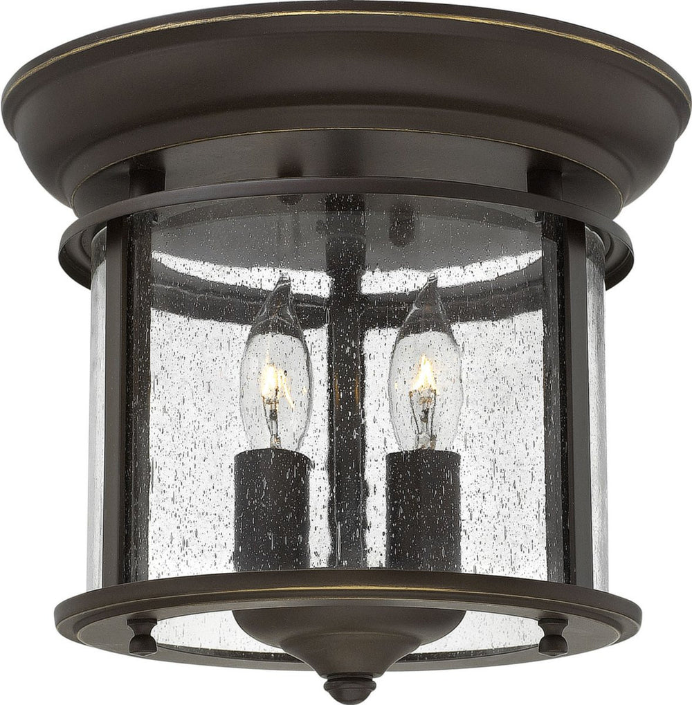 Gentry 2-Light Flush-Mount Foyer Light Olde Bronze