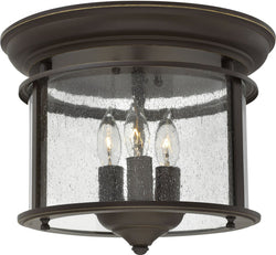 Gentry 3-Light Flush-Mount Foyer Light Olde Bronze