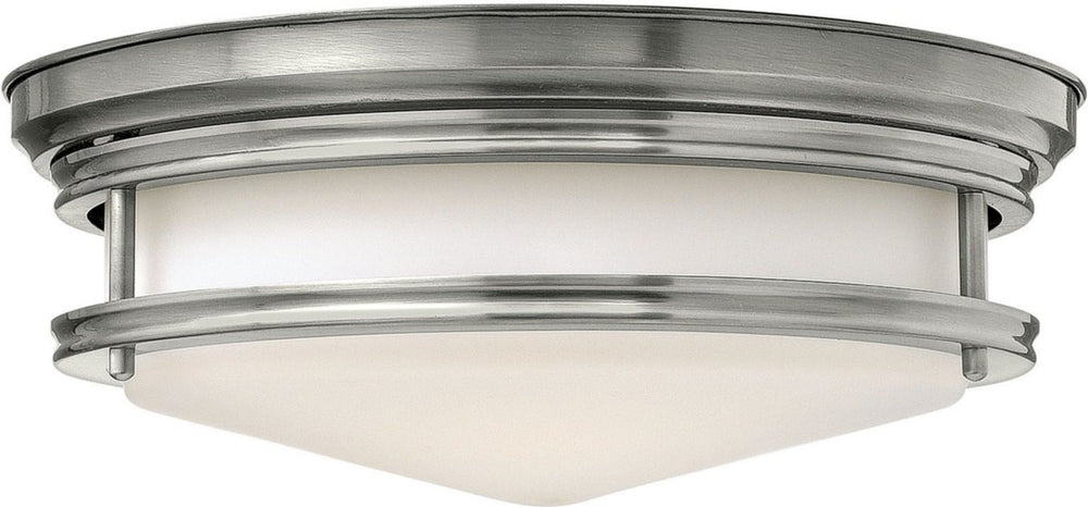 "14""W Hadley 2-Light LED Flush-Mount Foyer Light Antique Nickel"