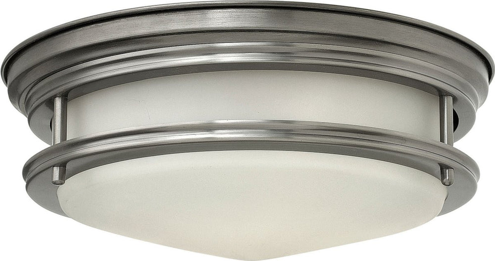 "12""W Hadley 1-Light LED Flush-Mount Foyer Light Antique Nickel"