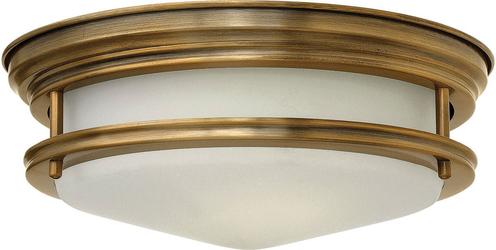 Hadley 1-Light LED Flush-Mount Foyer Light Brushed Bronze