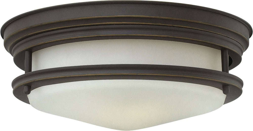 "12""W Hadley 1-Light LED Flush-Mount Foyer Light Oil Rubbed Bronze"