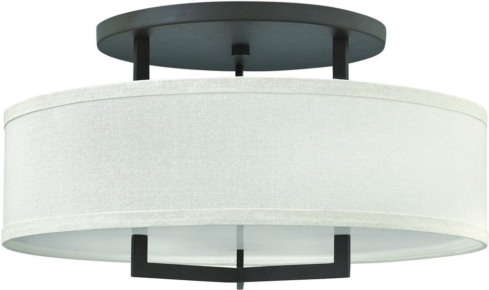 "26""W Hampton 3-Light Semi Flush Mount Buckeye Bronze 3211KZ"