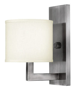 "7""w Hampton Wall Sconce Antique Nickel"