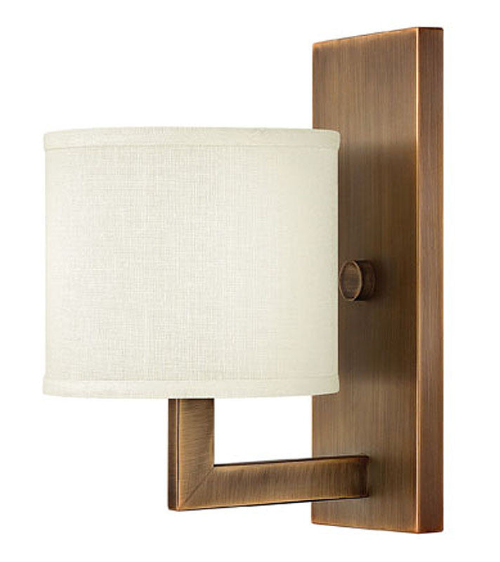"7""w Hampton Wall Sconce Brushed Bronze"