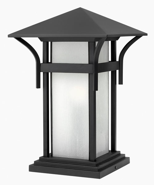 "17""h Harbor 1-Light LED Pier Mount Outdoor Satin Black"
