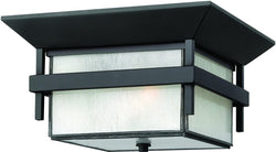 Hinkley Harbor 1-Light Outdoor Ceiling Light Satin Black 2573SK-LED