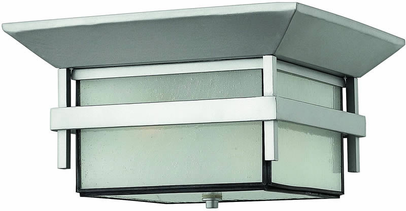 "12""w Harbor 2-Light Outdoor Flush Mount Fixture Titanium"