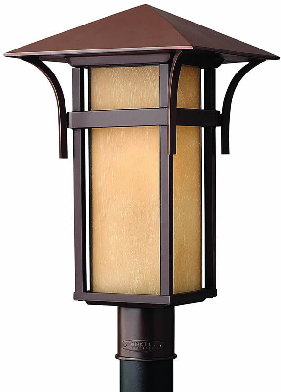 "20""h Harbor 1-Light Outdoor Post Lantern Anchor Bronze"