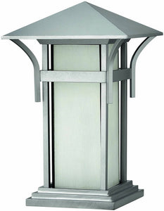 "17""h Harbor 1-Light Outdoor Pier Mounted Lantern Titanium"