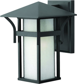 Harbor 1-Light Outdoor Wall Light Satin Black