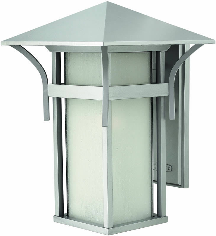 "16""h Harbor 1-Light Large Outdoor Wall Lantern Titanium"