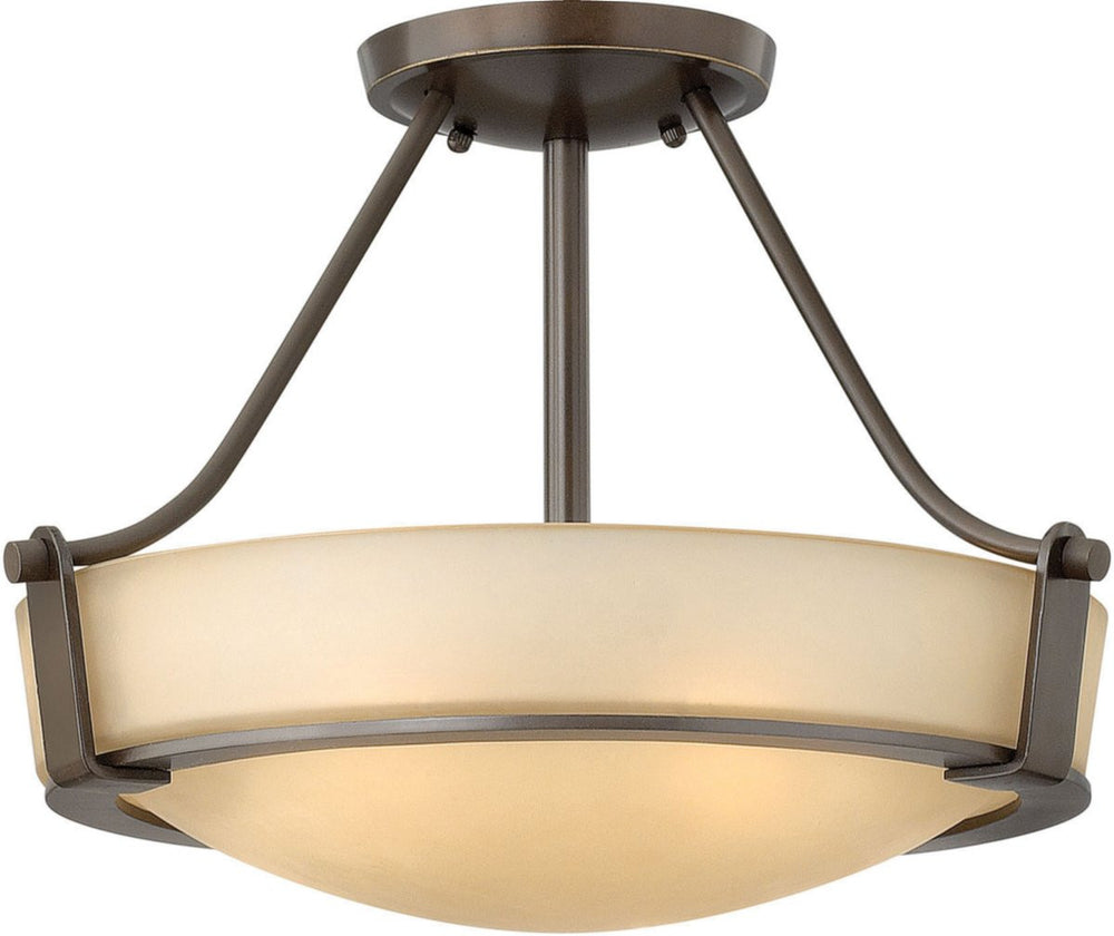 Hathaway 2-Light LED Semi-Flush Foyer Light Olde Bronze