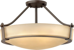 Hathaway 3-Light LED Semi-Flush Foyer Light Olde Bronze