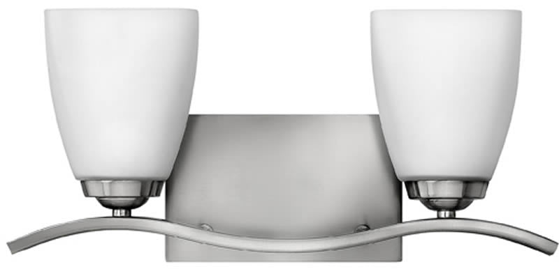 "16""w Josie 2-Light Bath Vanity Brushed Nickel"