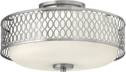 "15""w Jules 3-Light Flush Foyer Brushed Nickel"