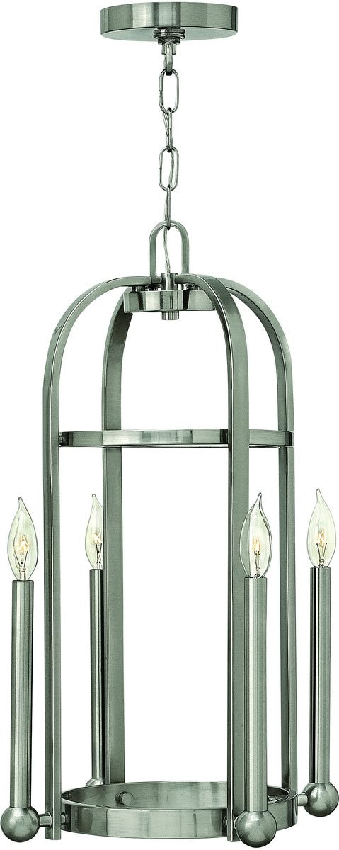 "15""w Landon 4-Light Foyer Light Brushed Nickel"