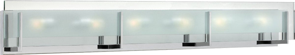"38""w Latitude 6-Light Halogen Bath Vanity Chrome"