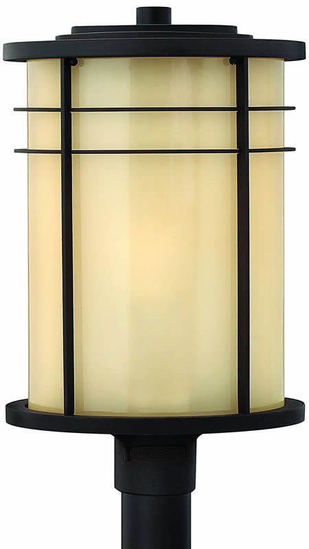 "21""H Ledgewood 1-Light Outdoor Post Lantern Museum Bronze"