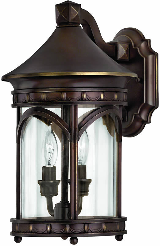"15""h Lucerne 2-Light Outdoor Wall Lantern Copper Bronze"