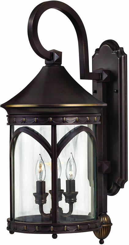 "25""h Lucerne 3-Light Outdoor Wall Lantern Copper Bronze"